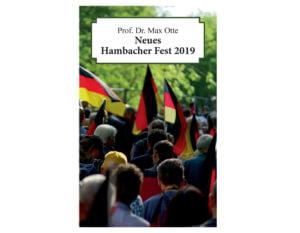 Festschrift Neues Hambacher Fest 2019 von Max Otte